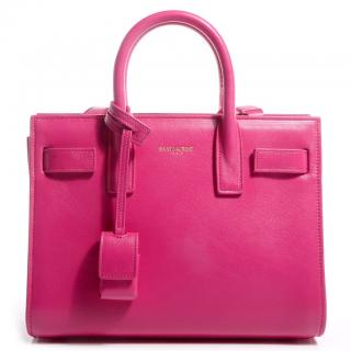 Saint Laurent Fuchsia Pink Mini Sac de Jour