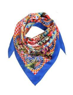 Dolce & Gabbana silk Sicily Caretto printed scarf