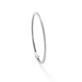 Mapping and Webb Violette white gold 1ct diamond bangle