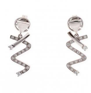 Bespoke White Gold 0.50ct Diamond Spiral Earrings
