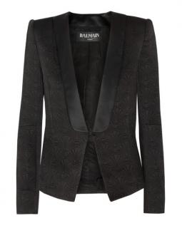 Balmain quilted satin tuxedo jacket