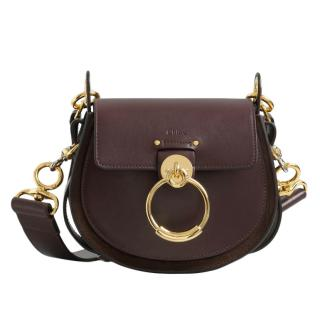 Chloe Small Tess Bag In Shiny & Suede Calfskin