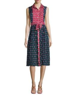 Diane von Furstenberg Nieves Zen Floral A-Line Dress