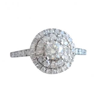 Bespoke white gold and diamond halo ring