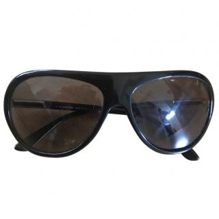 Tom Ford Black Pilot Sunglasses