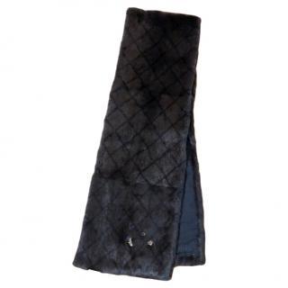 Chanel Mink Fur Crystal Embellished Stole