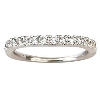 Tolkowsky 0.22ct Diamond White Gold Eternity Ring