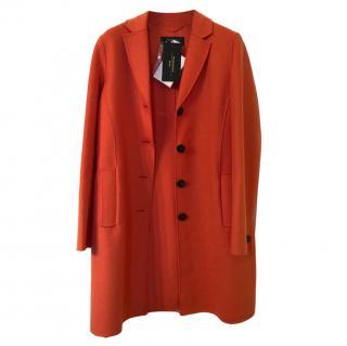 Weekend Max Mara Orange Wool Coat