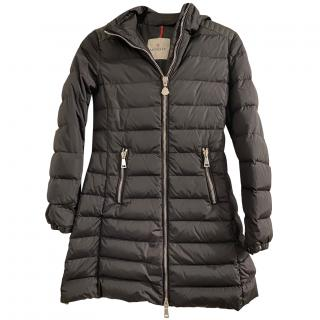 Moncler Black Longline Quilted Puffer Coat