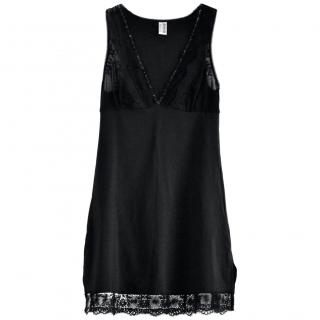 Wolford Black Lace Trim Slip Dress