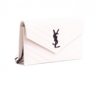 Saint Laurent Monogram Envelope Chain Wallet
