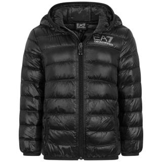 EA7 Lightweight Black Puffer Jacket