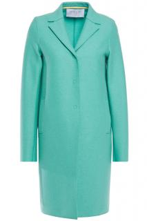 Harris Wharf mid length aqua blue coat
