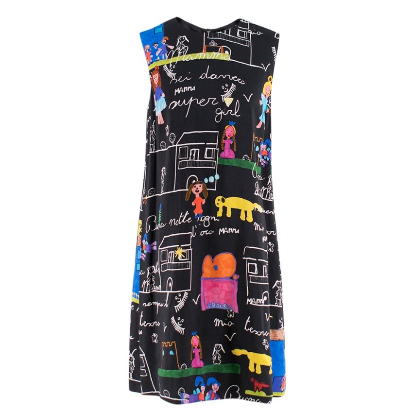 Dolce & Gabbana Viva la Familia Print Shift Dress