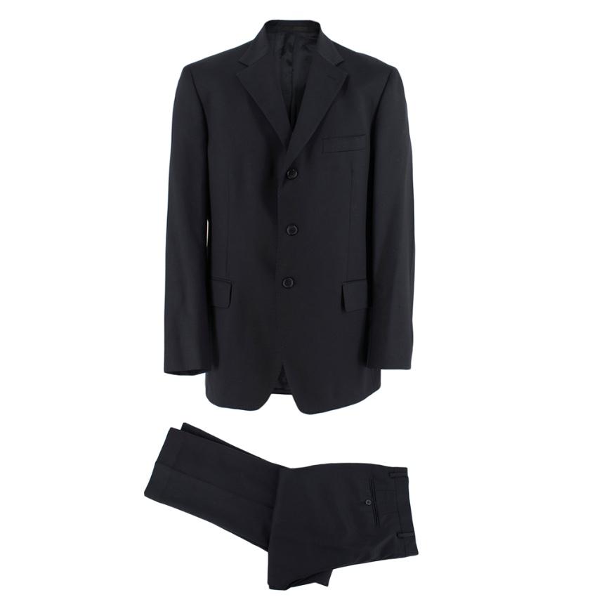 Boggi Black Wool Single Breasted Suit