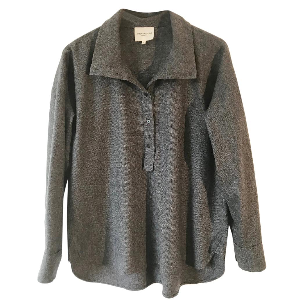 Anna Valentine Wool Grey Oversized Top
