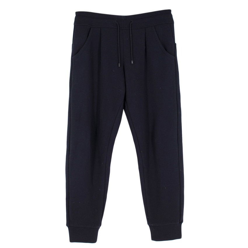 Emporio Armani Navy Wool Blend Sweatpants