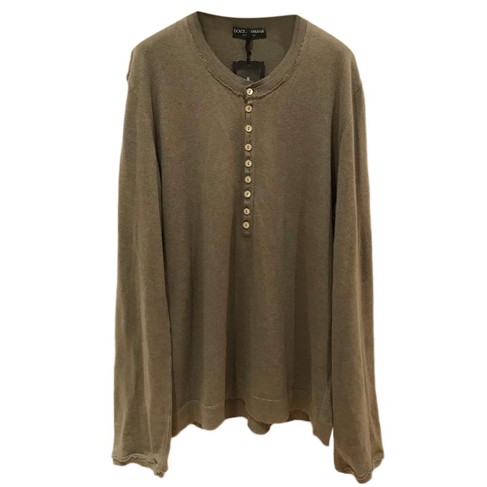 Dolce & Gabbana Khaki Long Sleeve Top
