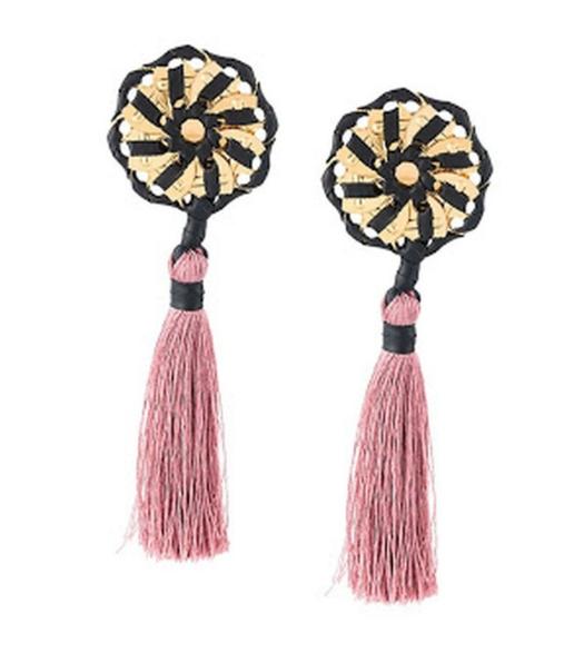 DSquaredSamurai Pink Tassel Earrings