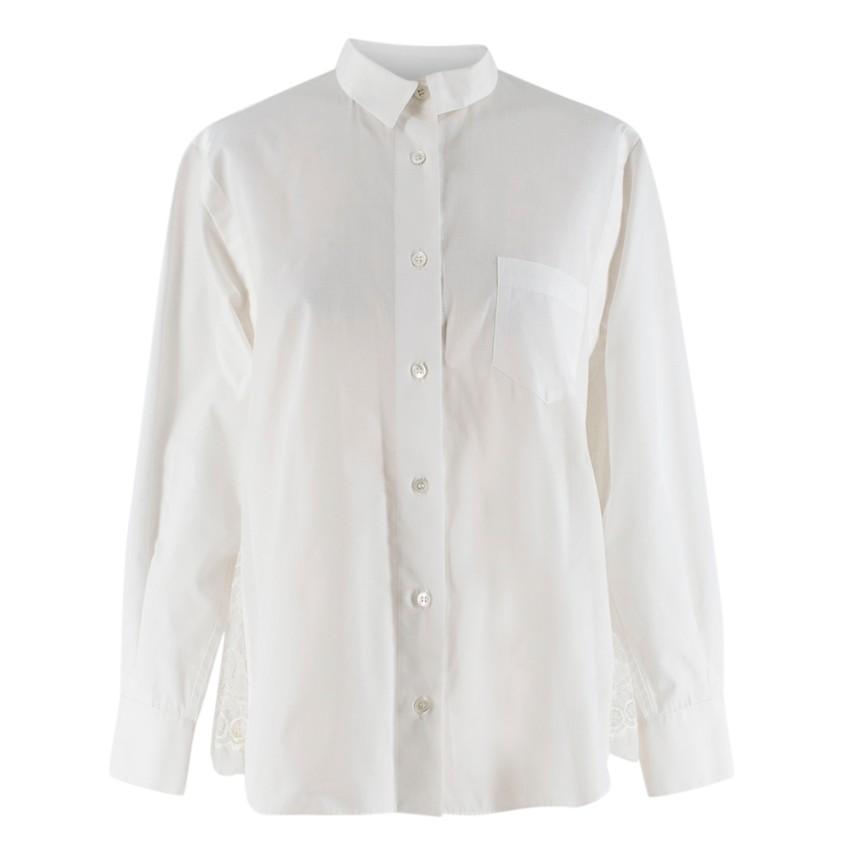 Sacai Lace Back Tailored Blouse