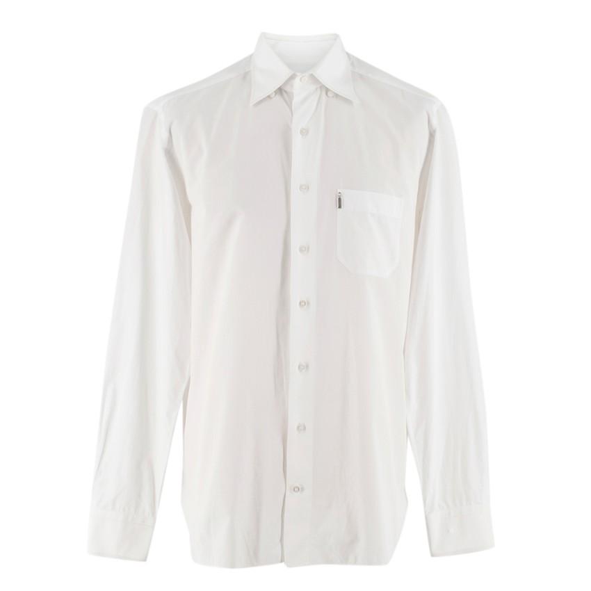 Zilli White Spread Collar Men's Shirt