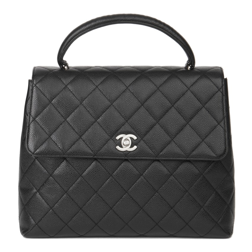 Chanel Black Caviar Leather Kelly Bag
