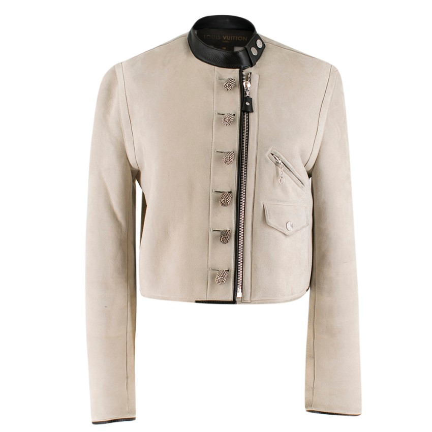 Louis Vuitton Suede & Shearling Motorcycle Jacket
