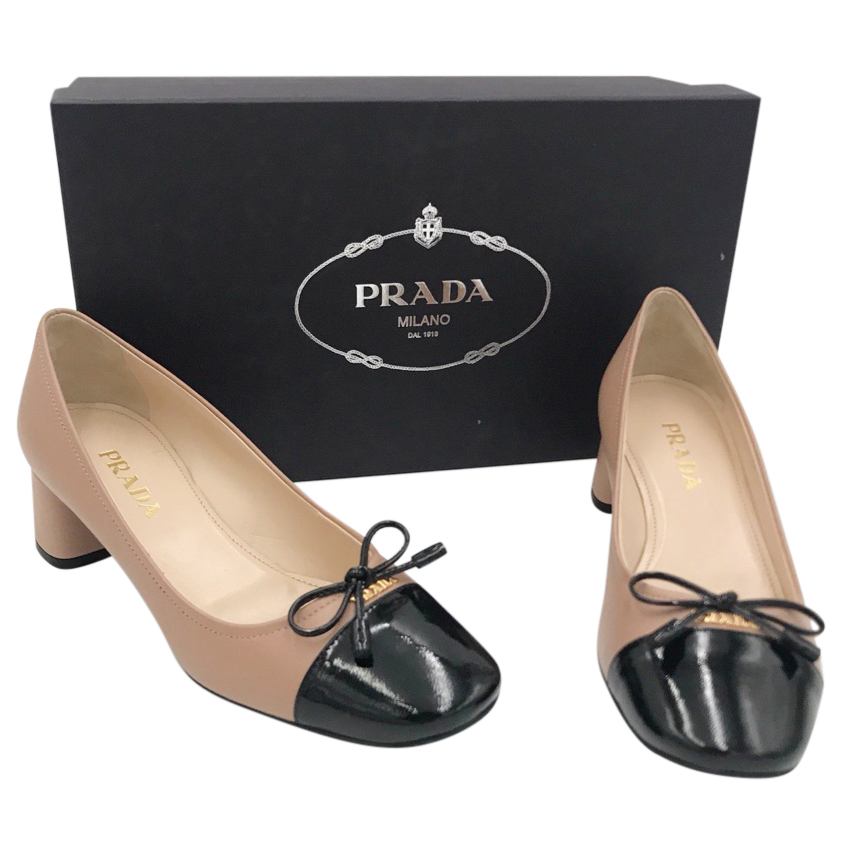 Prada Patent Leather Two-Tone Pumps