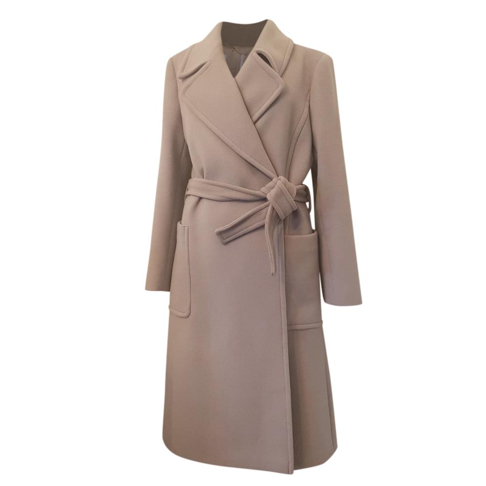 Max Mara Wool Coat W/ Detachable Fur Collar