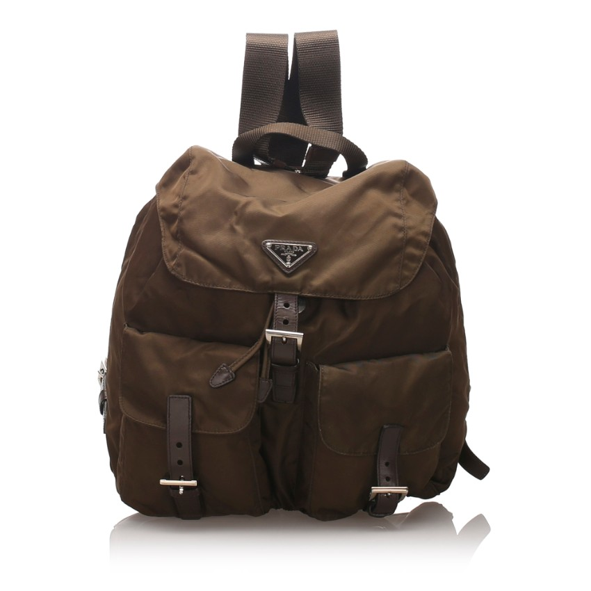 Prada Nylon Drawstring Backpack