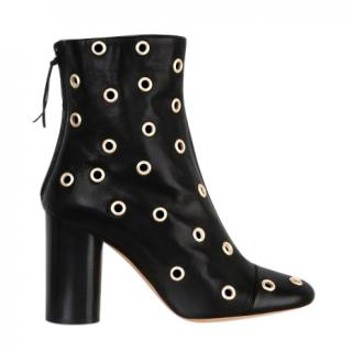 Isabel Marant Garret Eyelet Leather Ankle Boots