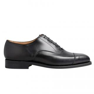 Tricker's Black Regent Calf Leather Oxford Shoes