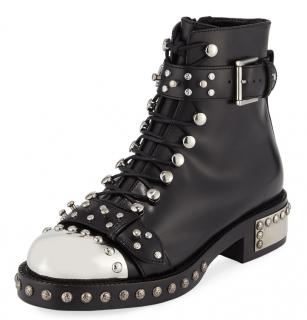Alexander McQueen studded biker boots