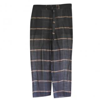 Isabel Marant Blue Checked Pants