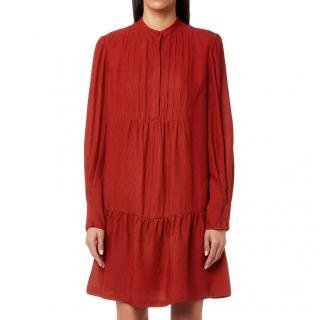 APC Red Flared Jones Dress