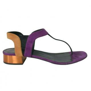 Gucci colourblock suede sandals