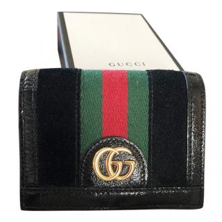 Gucci Black Ophidia Web Stripe Wallet
