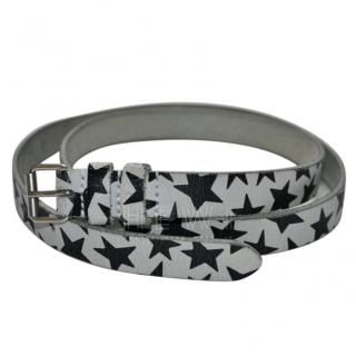 Saint Laurent star print leather belt