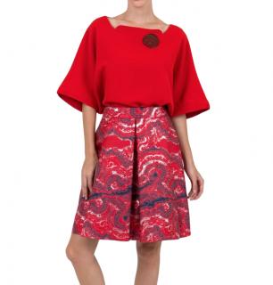 Osman marble jacquard skirt