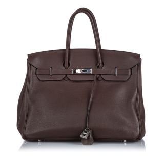 Hermes Togo Leather Brown Birkin 35