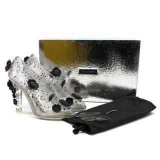 Dolce & Gabbana Transparent Strass Cinderella Pumps