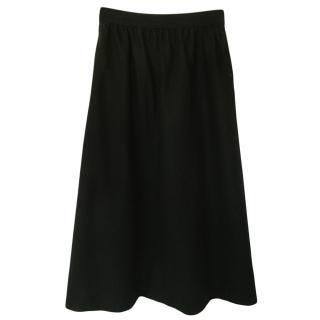 Saint Laurent Vintage Wool Midi Skirt