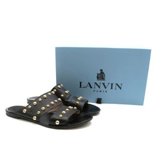 Lanvin Studded Double Strap Sandals