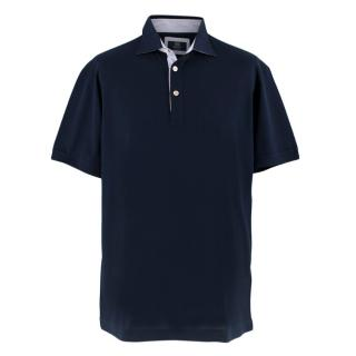 Boggi Navy Cotton Polo Shirt