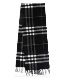 Burberry Black & White Cashmere Scarf