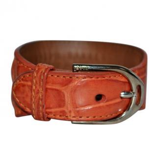 Ralph Lauren Collection orange alligator bracelet