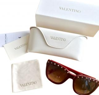 Valentino Red Rockstud Sunglasses
