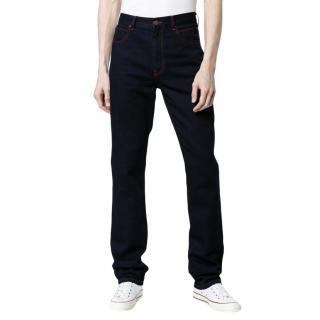 Calvin Klein 205W39NYC Contrast Stitch Straight Leg Jeans