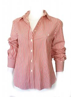 Carolina Herrera classic oxford red striped shirt
