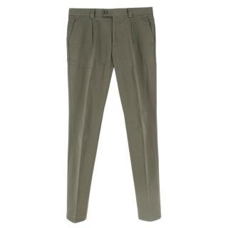 Brunello Cucinelli KhakiCotton Chino Trousers